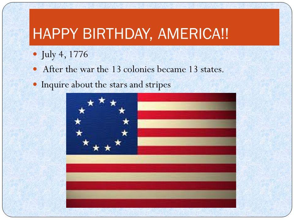 Resultado de imagen para 13 STATES OF AMERICA