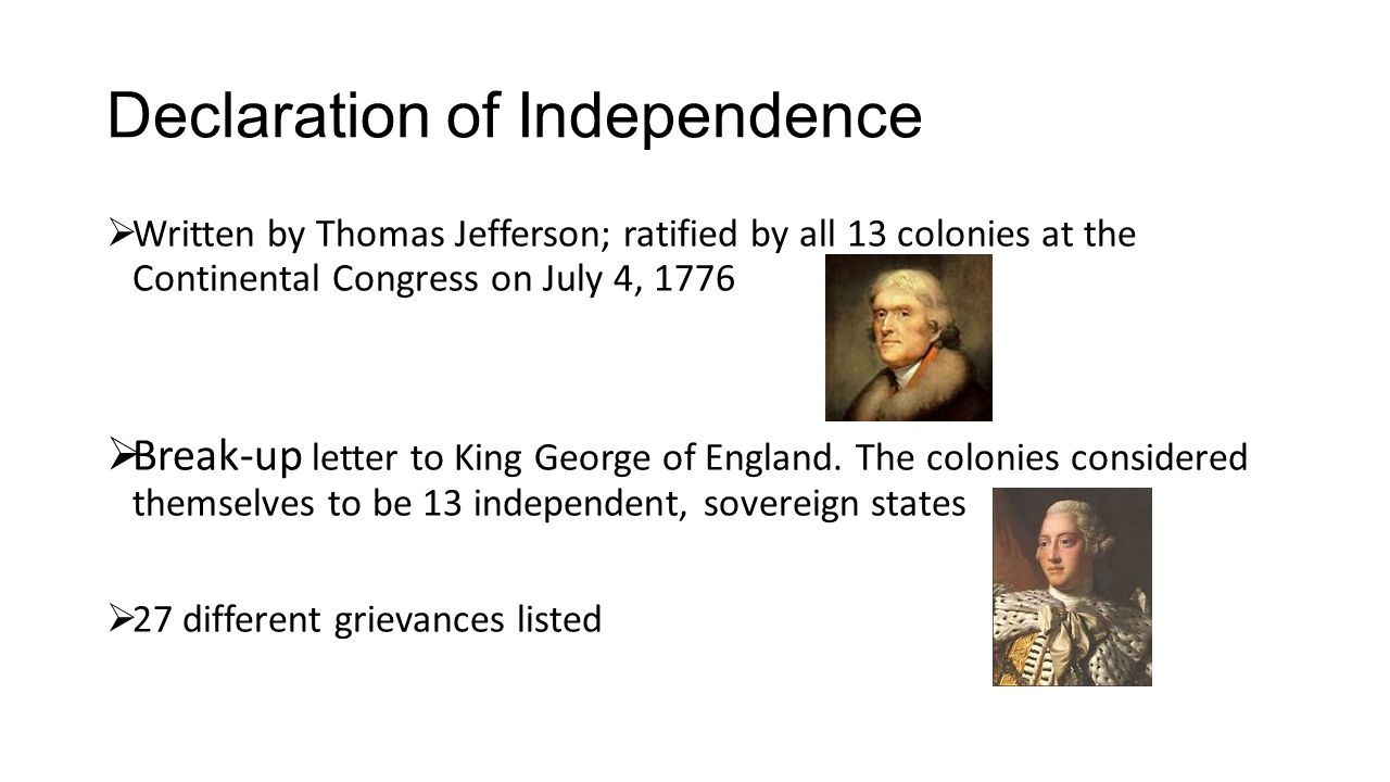 example of decleration of independence