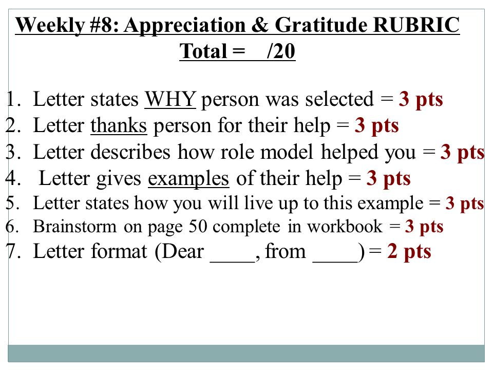 examples of gratitude