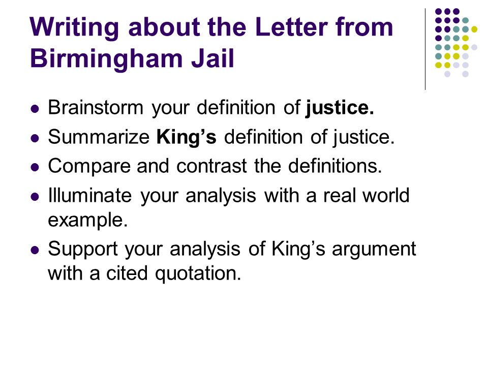 letters from birmingham jail critical analysis