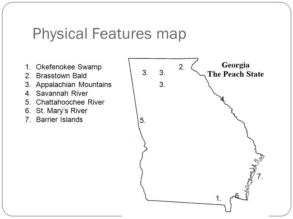 SSG The Student Will Describe Georgia With Regard To Physical - Georgia map savannah river