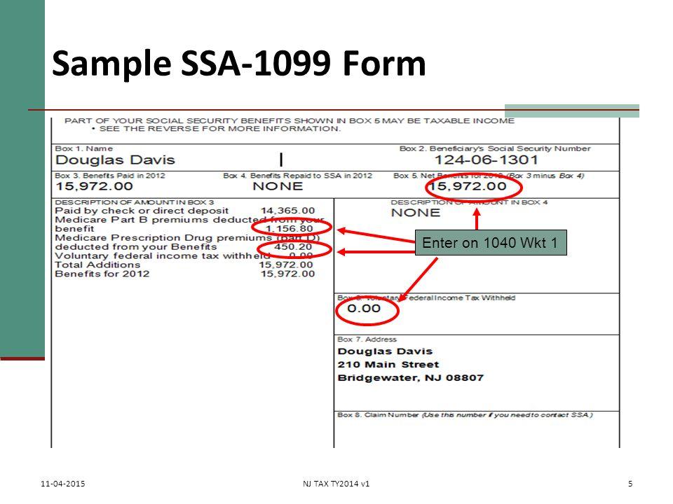 ssa 1099 form