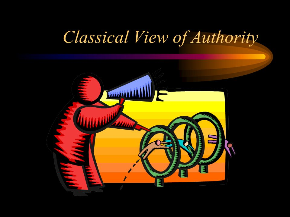 Classical View of Authority