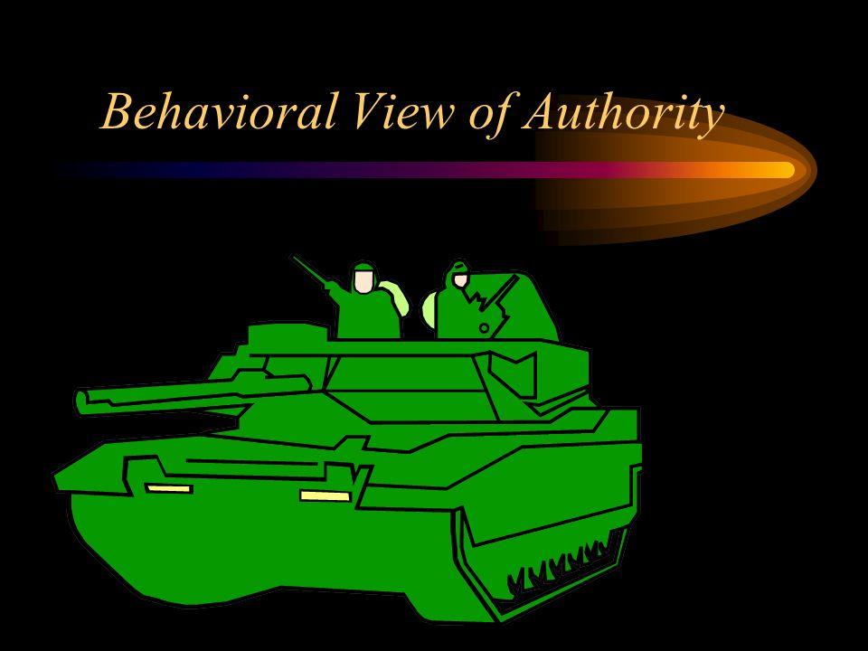 Behavioral View of Authority