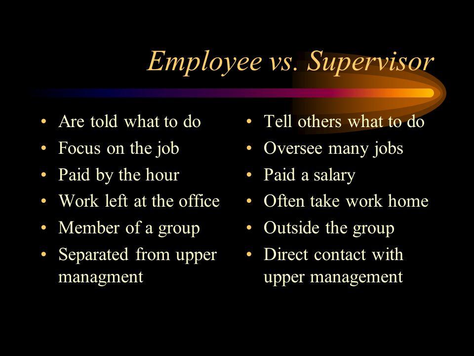 Employee vs.