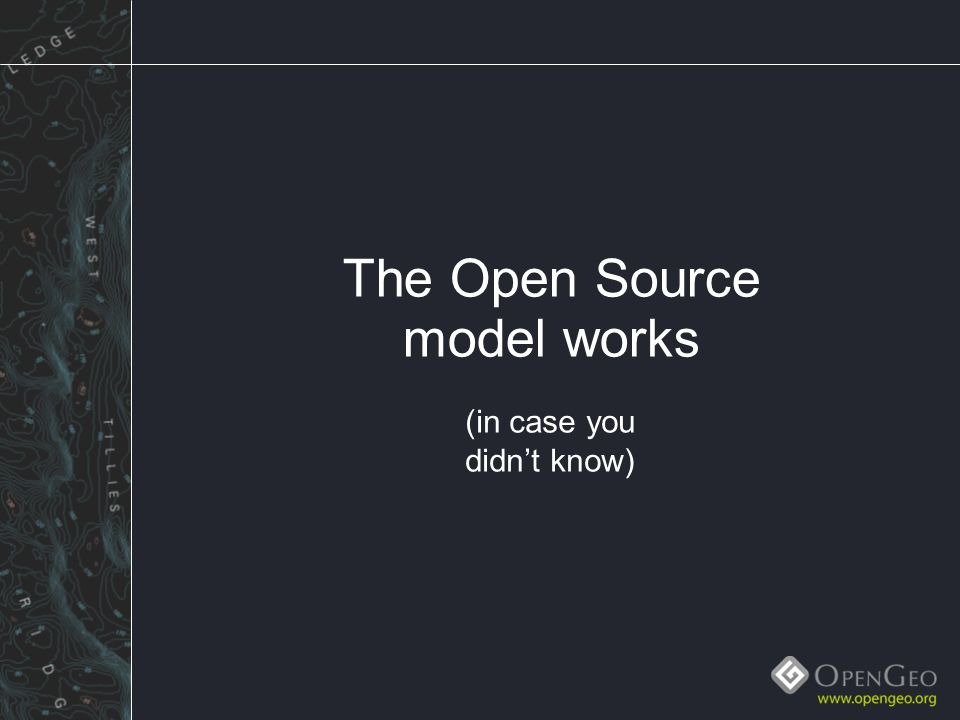 Geoserver and open spatial data infrastructure mike pumphrey map 9 the open source model works in case you didnt know gumiabroncs Images