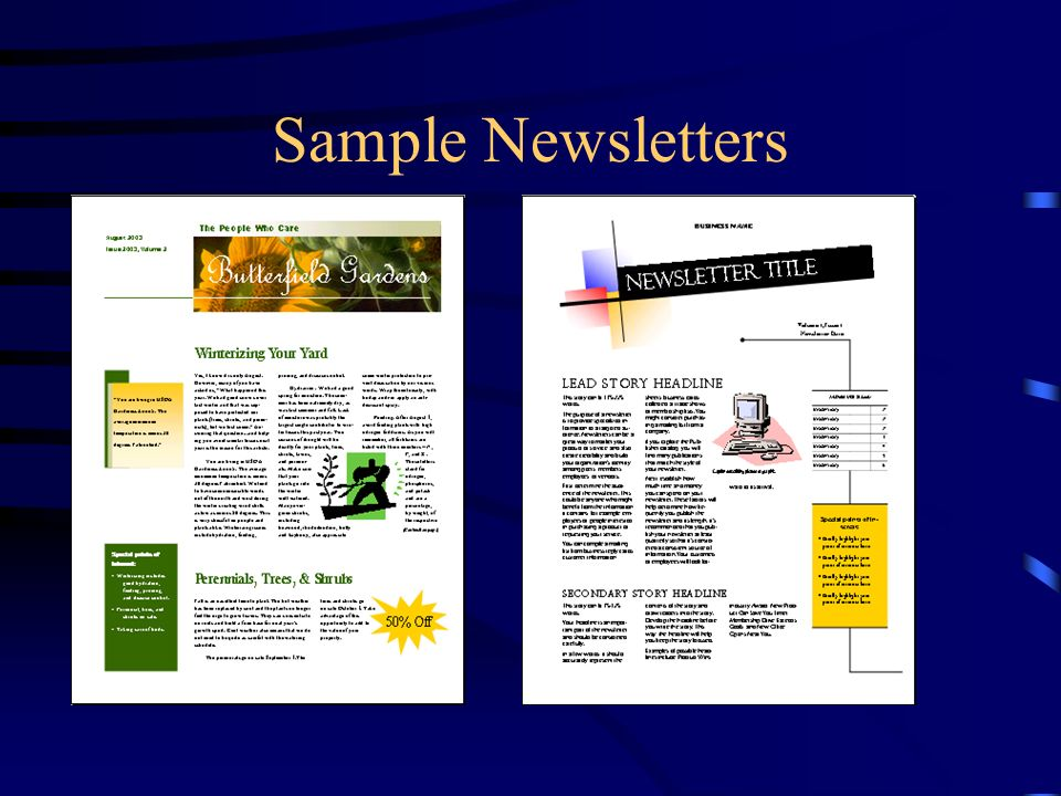 Creating basic elements of a newsletter chapter ppt download 13 sample newsletters thecheapjerseys Gallery