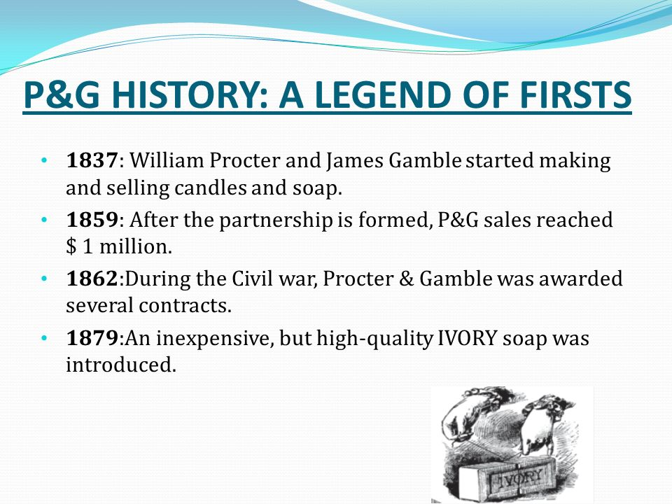 the history and operations of procter and gamble company