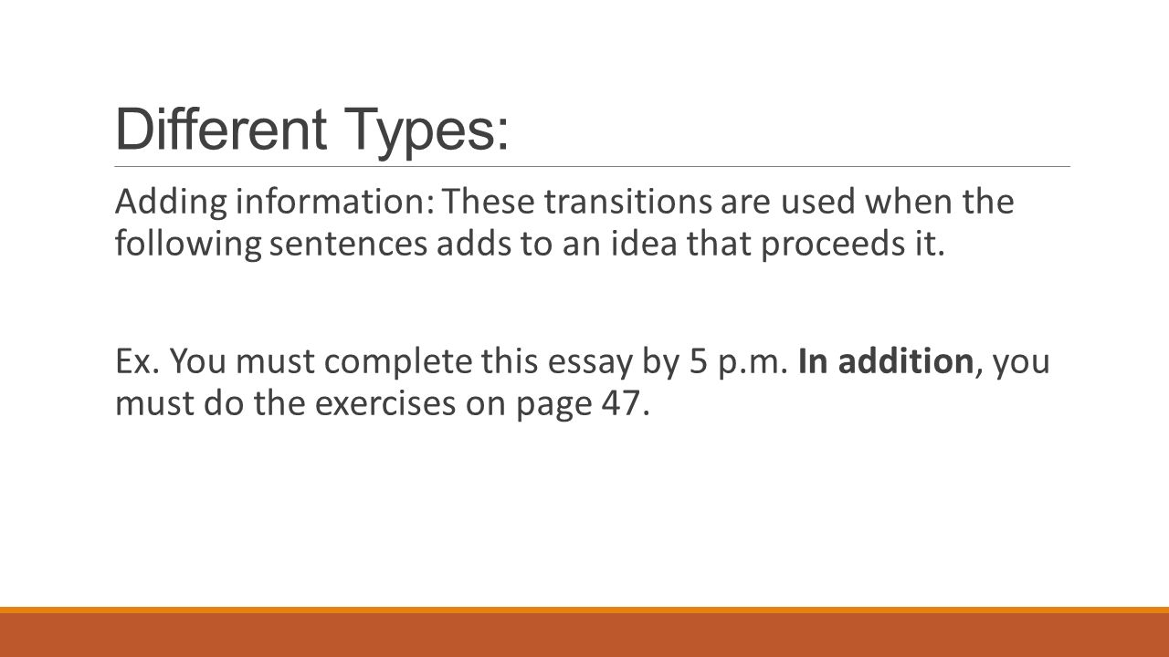 enriching writing transitions do now error one way dr different types adding information these transitions are used when the following sentences adds to
