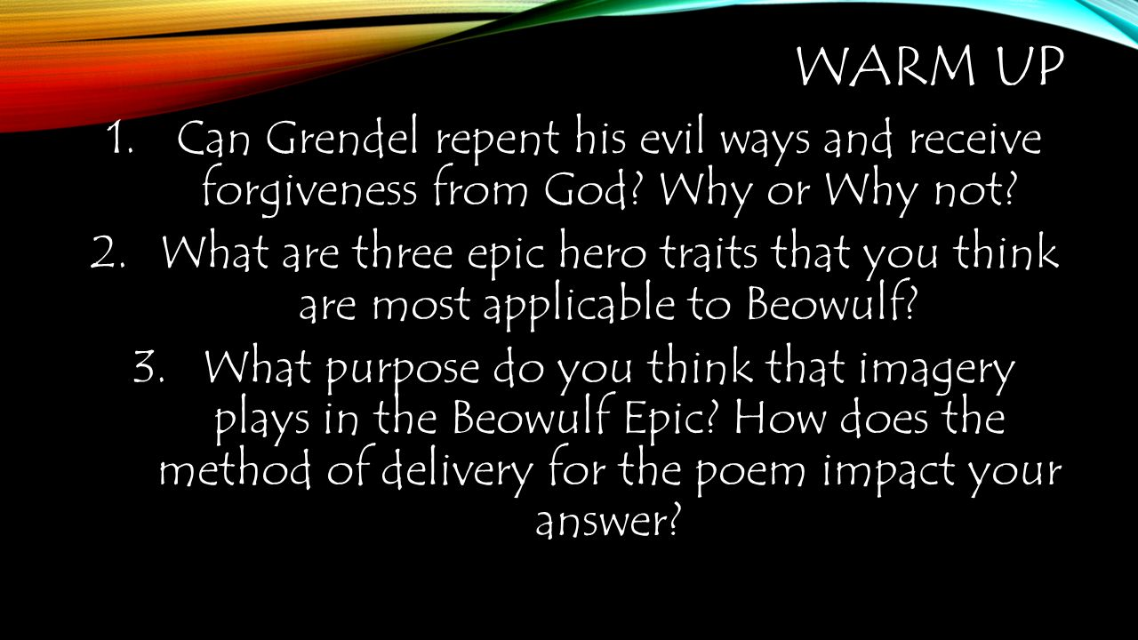 beowulf heroic traits of an epic hero