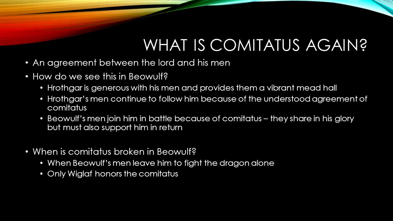 the comitatus relationship in beowulf essay
