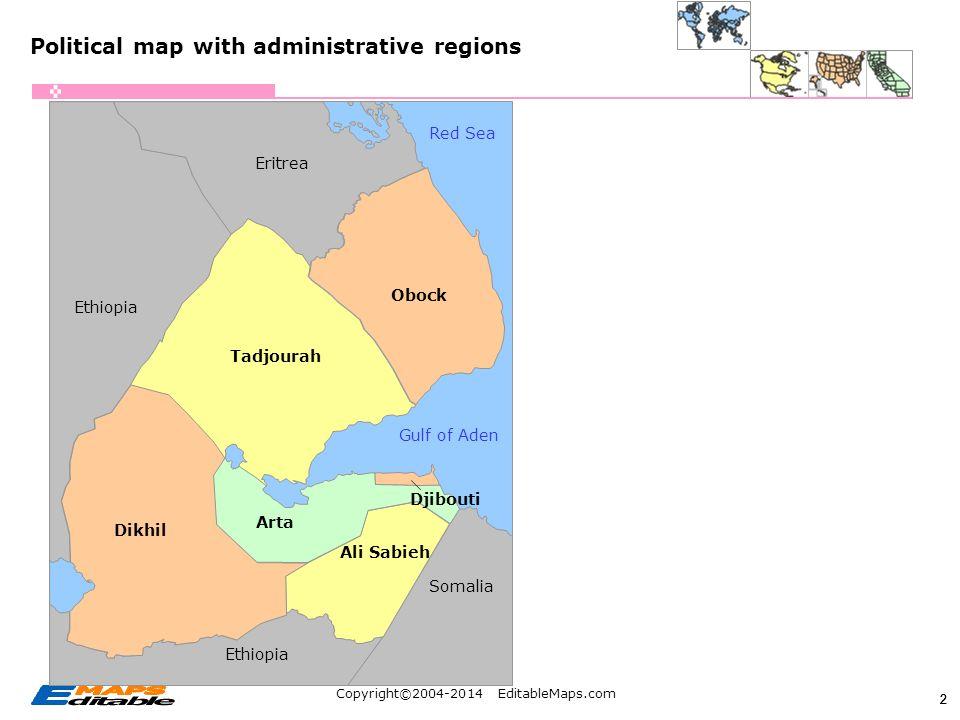 Copyright EditableMapscom Editable PowerPoint Maps Africa