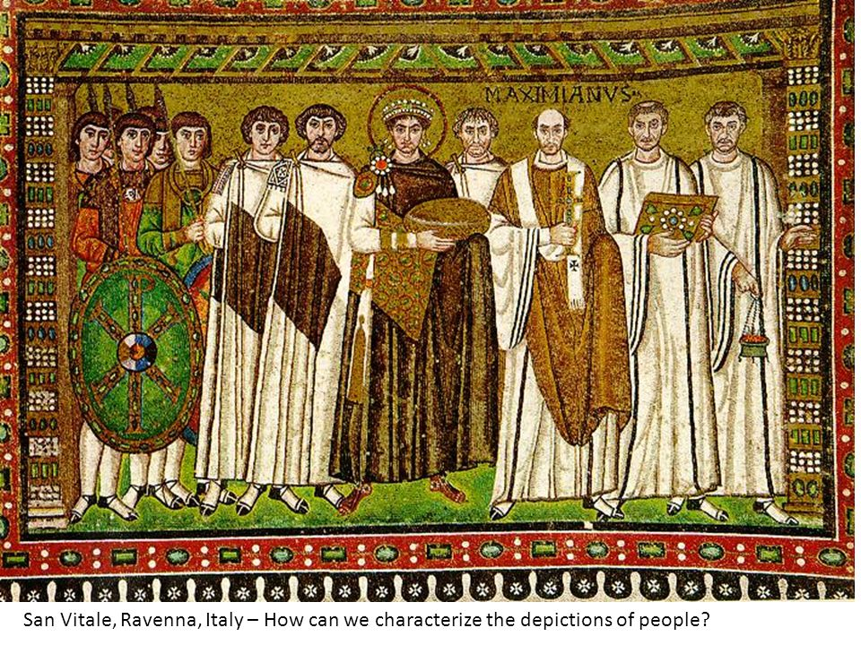 San Vitale, Ravenna, Italy – How can we characterize the depictions of people?