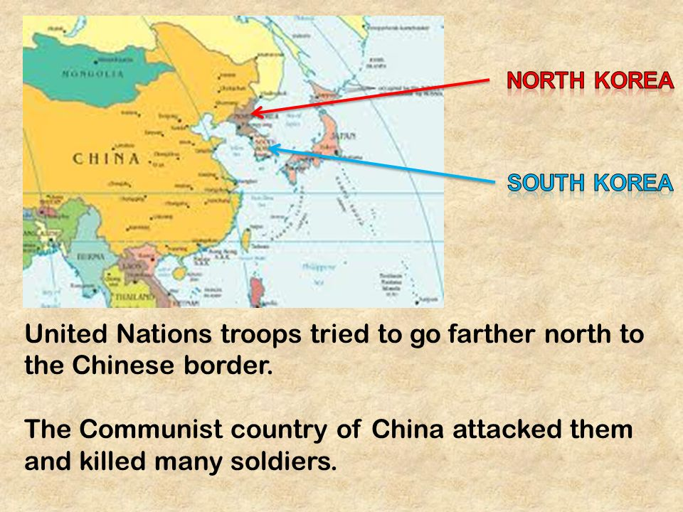 War in korea after world war ii korea was divided along the 38 th united nations troops tried to go farther north to the chinese border gumiabroncs Images