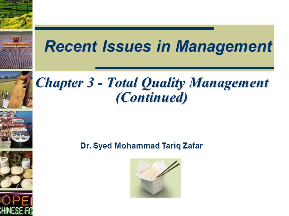 Recent Issues in Management Dr.