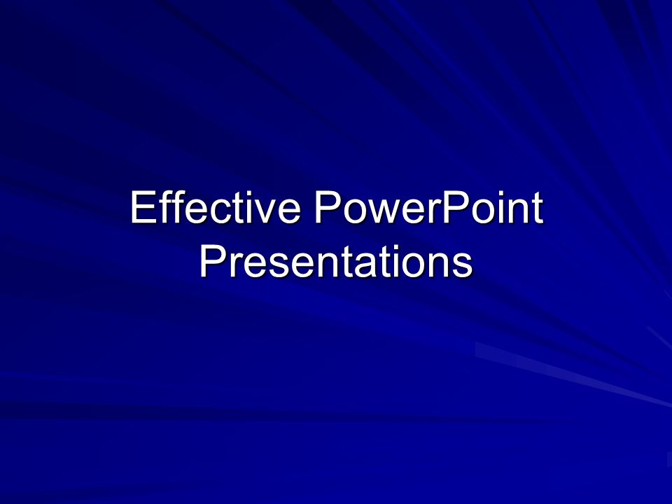 effective thesis presentation
