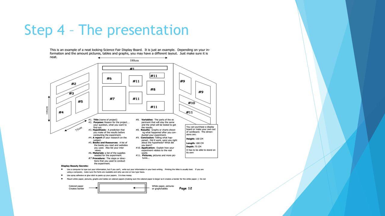 Step 4 – The presentation