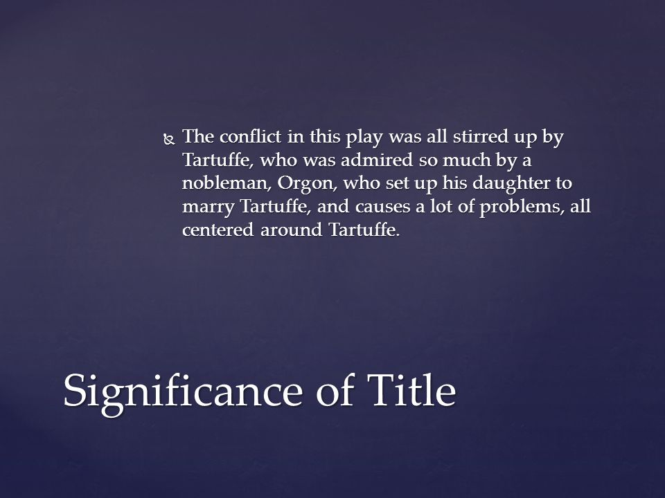 tartuffe moliere essay example