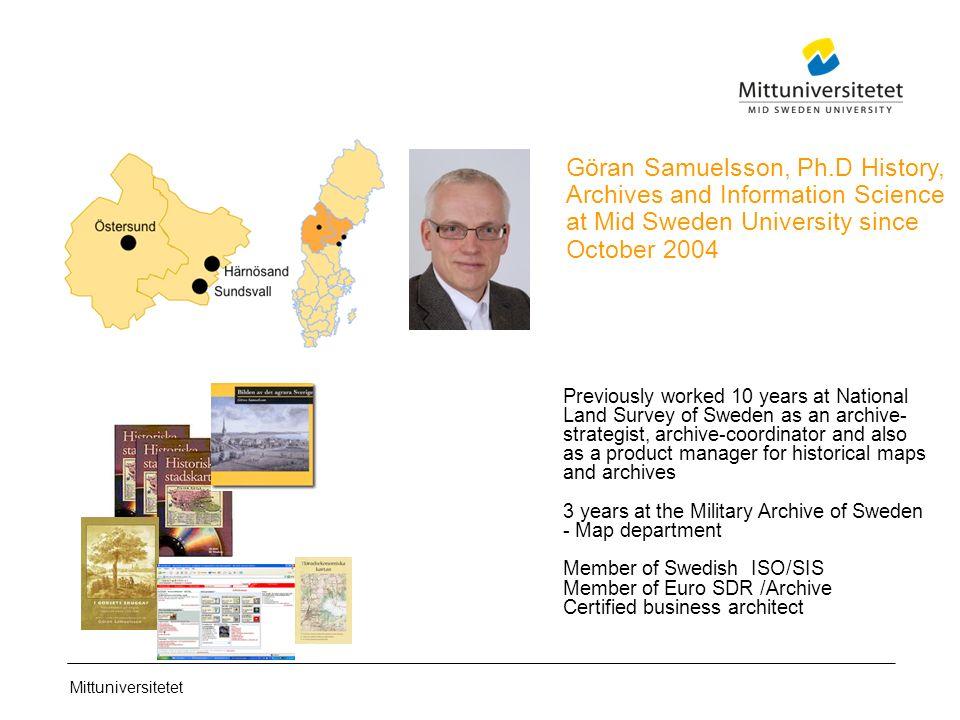 Mittuniversitetet Effective Digital Information Management Göran - Mid sweden university map