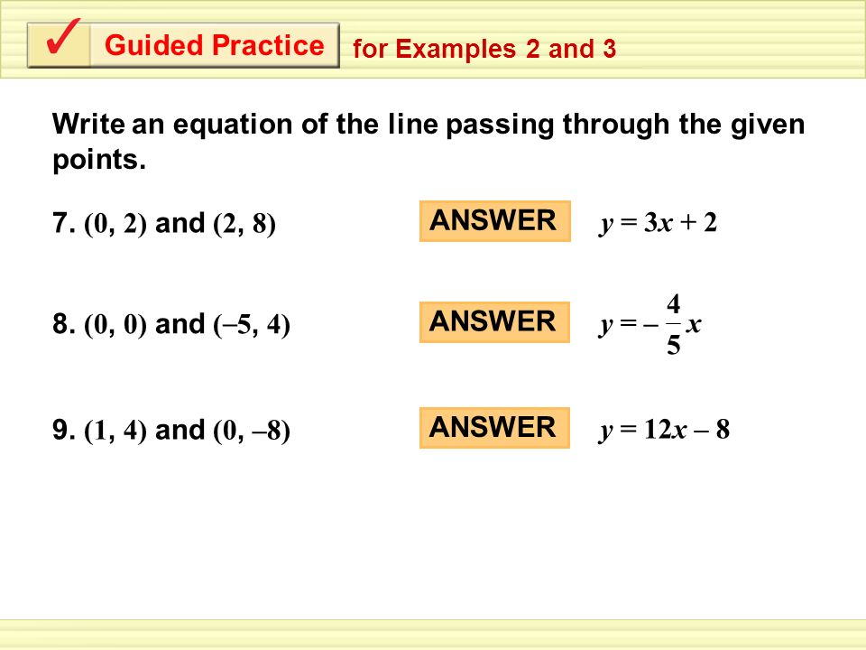 Writing Equations In Slope Intercept Form Worksheet Answers – Slope Intercept Form Worksheet with Answers
