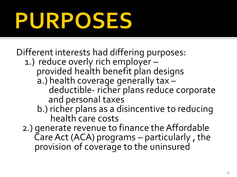 the purpose of the development of the affordable care act aca