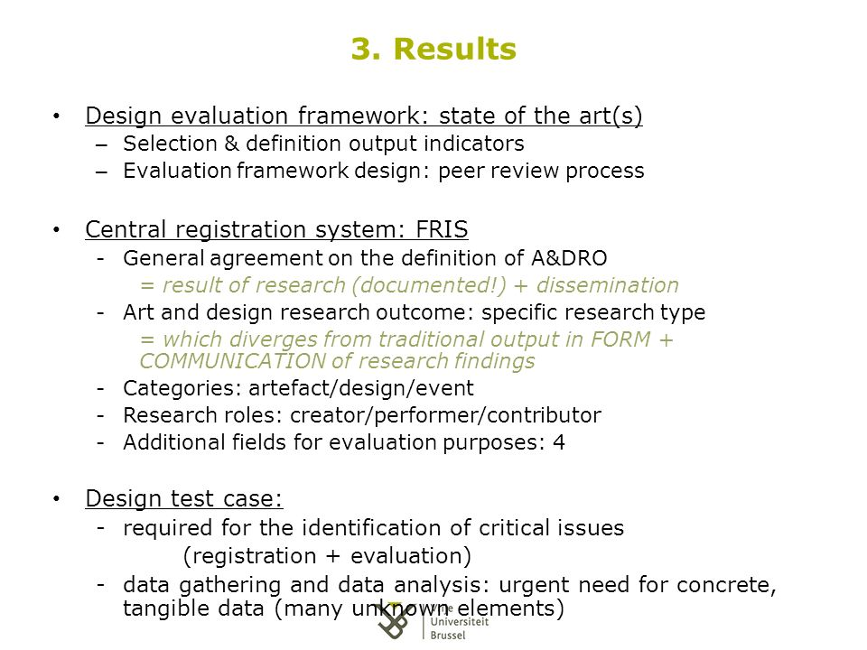 Registration And Evaluation Of Art And Design Research Outcomes