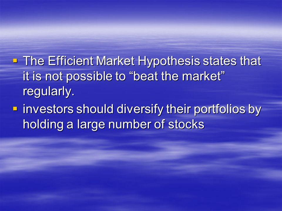 EMH PPT - Efficient Market Hypothesis - Beta (Finance)