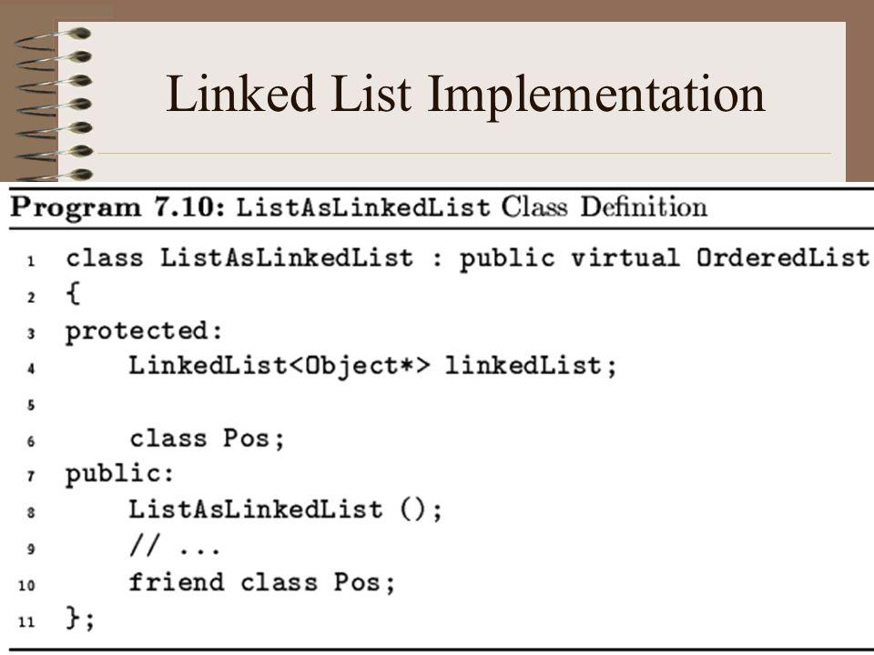 Linked List Implementation