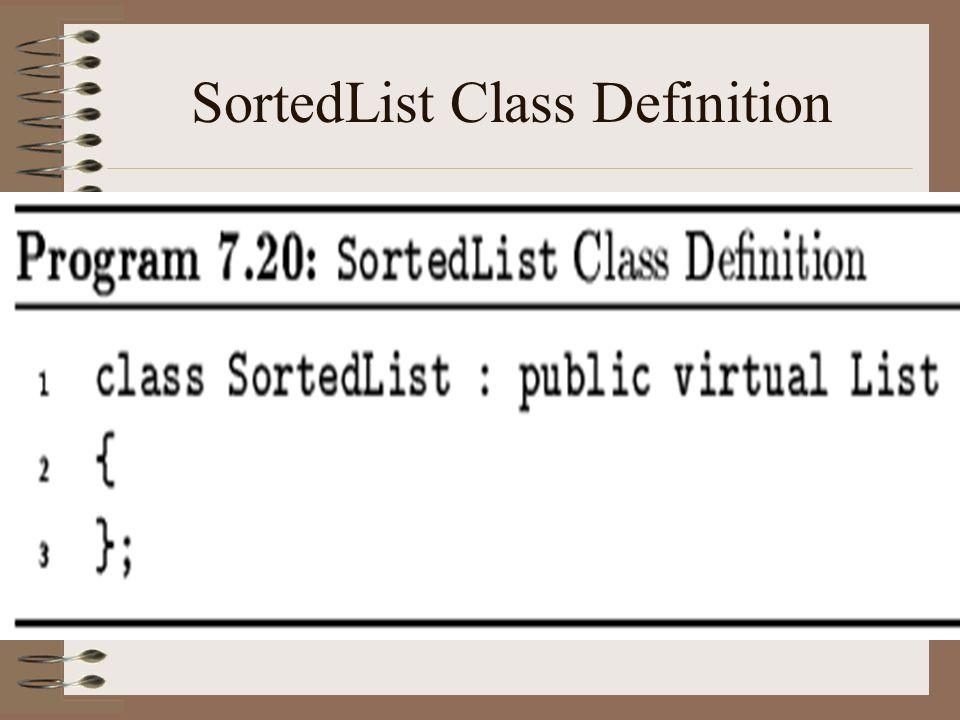 SortedList Class Definition