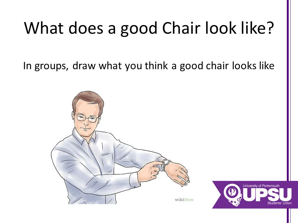 What does a good Chair look like? In groups, draw what you think a good chair looks like