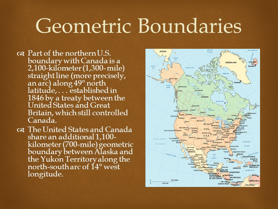Geometric Boundaries Part Of The Northern U S