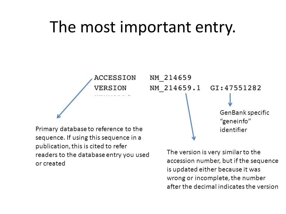 Updating genbank entries