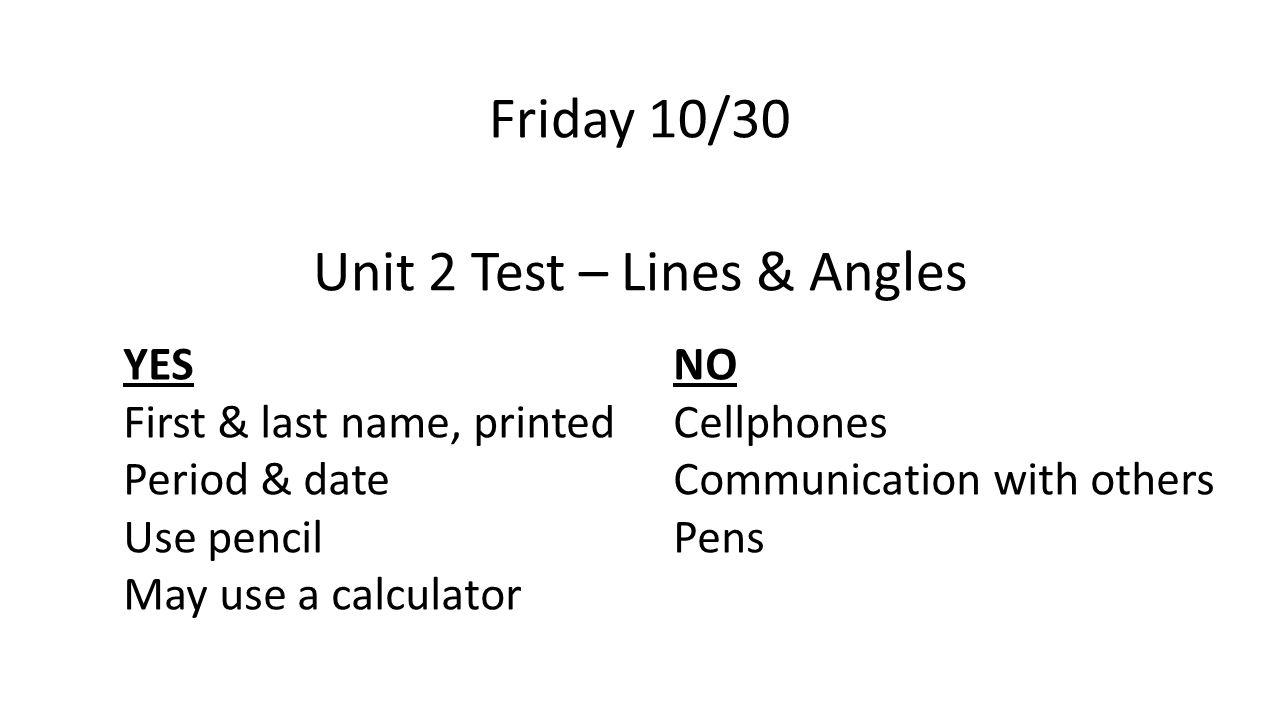 unit 2 test