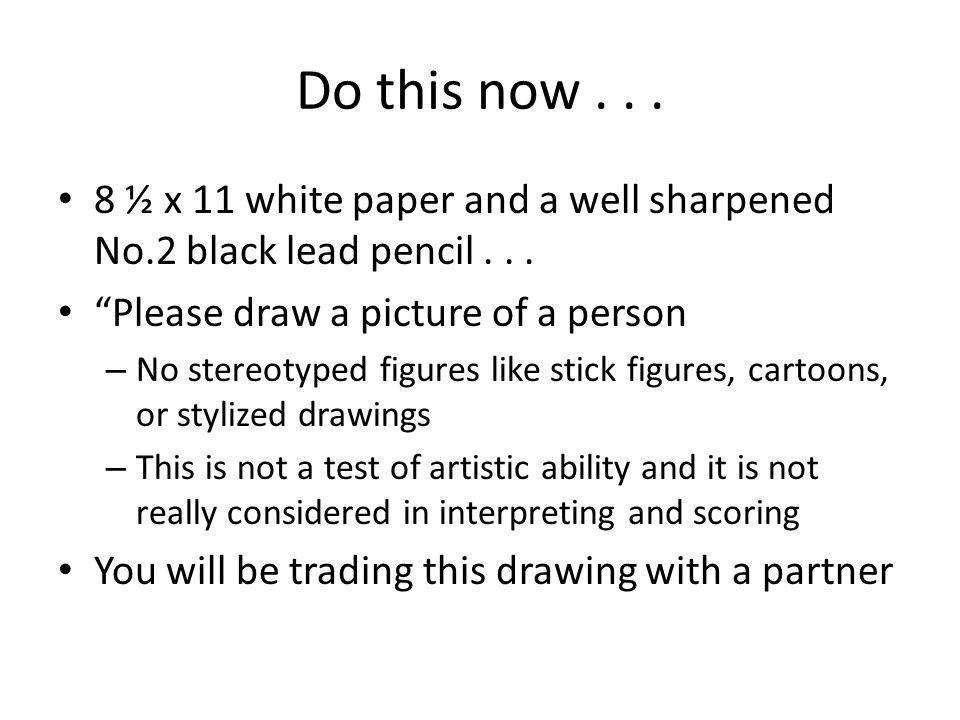 draw a person test interpretation