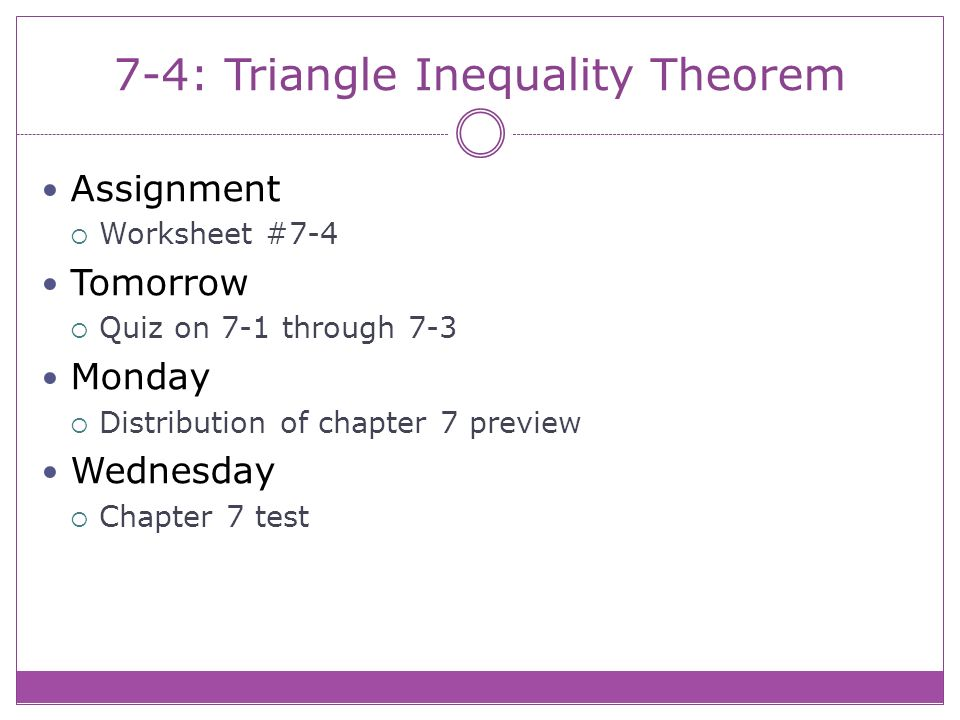 74 Triangle Inequality Theorem Theorem 79 Triangle Inequality – Triangle Inequalities Worksheet