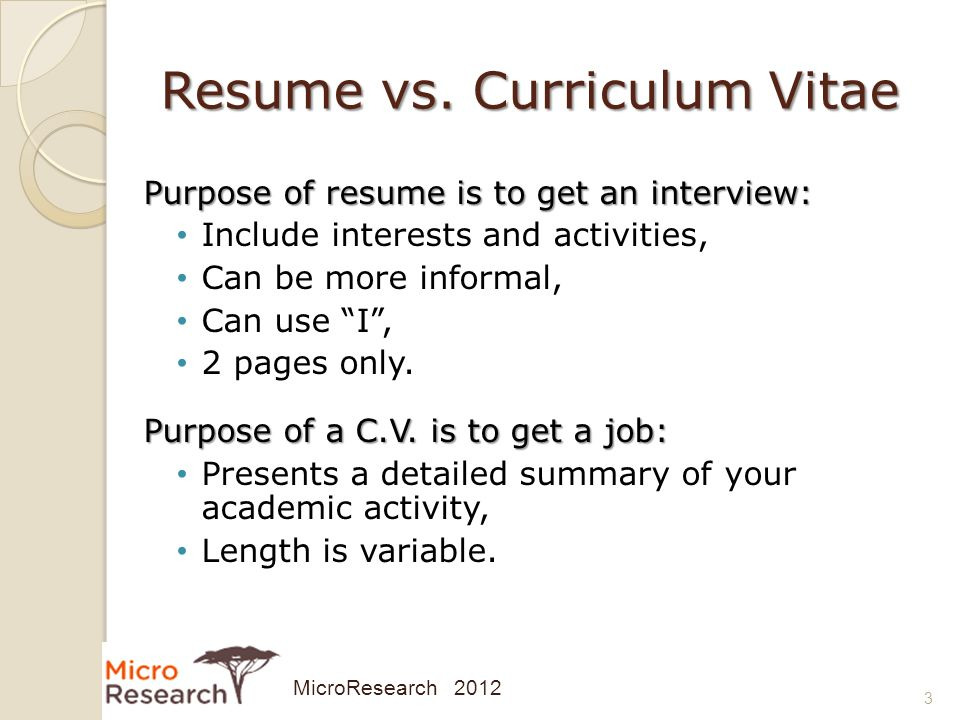 difference between resume and biodata