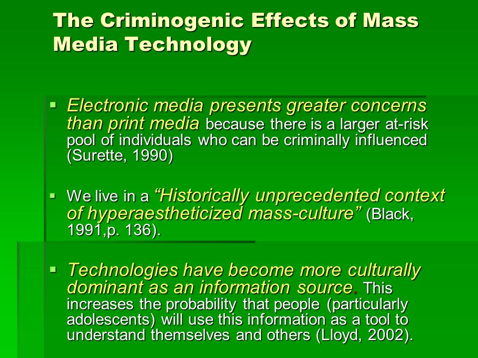 effects of mass media on culture