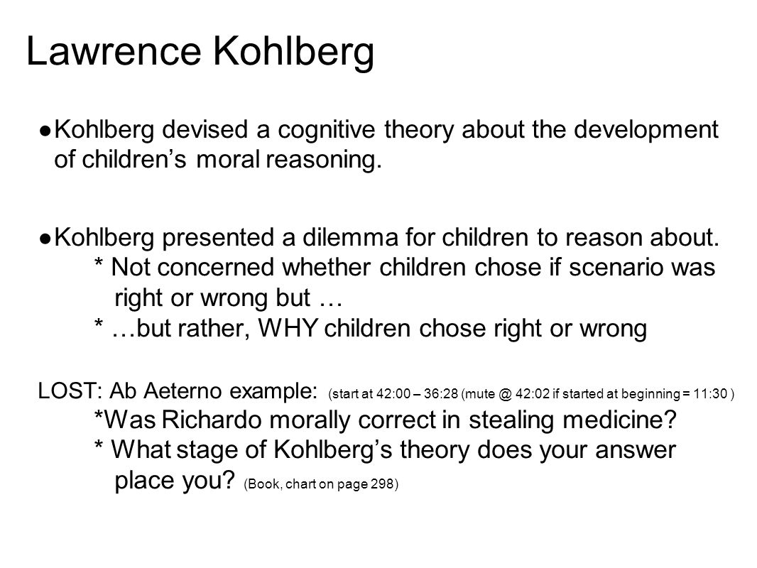 an analysis of kohlbergs theory of moral reasoning