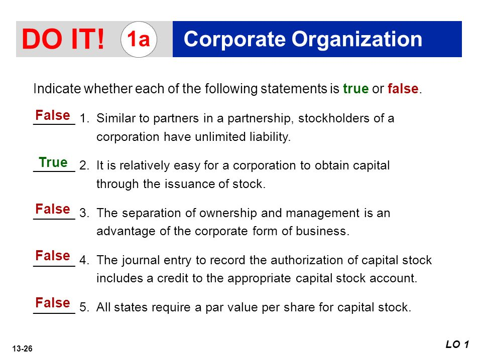 13-1 Corporations: Organization and Capital Stock Transactions 13 ...