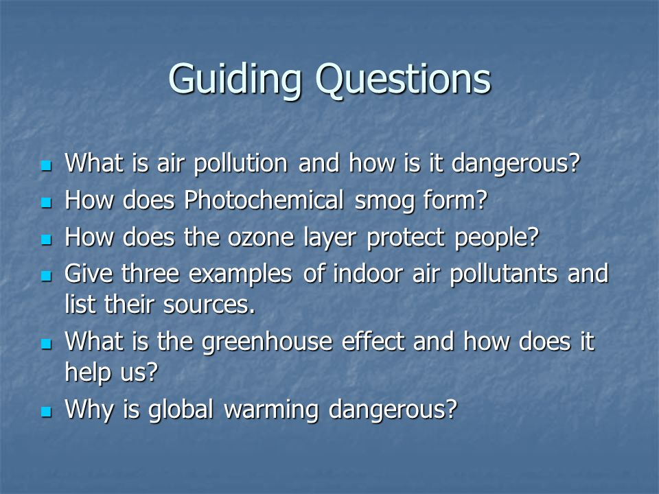 Chapter 5 Air Pollution Air Pollution. Air and Water Resources ...