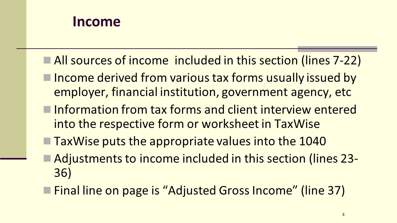 Irs form we file 1040 forms not 1040a 1040ez etc is split up 8 income falaconquin