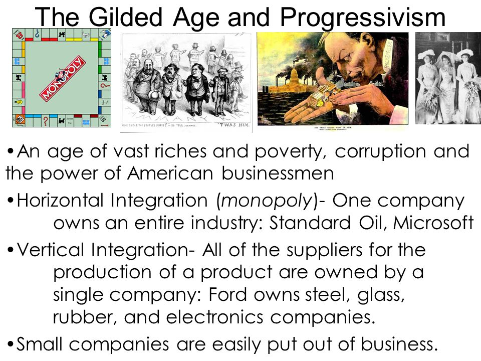 progressive era and gilded age Edi lesson design framework long term learning targets:  students will create a technology product depicting information about the progressive era from a given list of topic choices and technology projects.