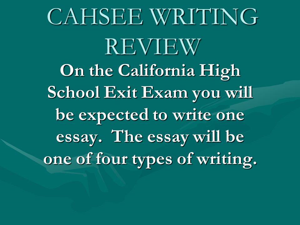 california high school exit exam essay prompts Home essays california high school exit california high school exit exam  topics: california high school exit exam example prompt from a real high school exit.