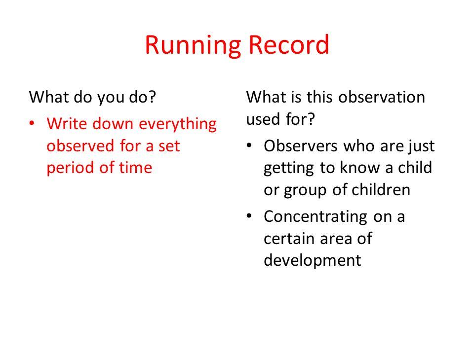 Child development observation paper