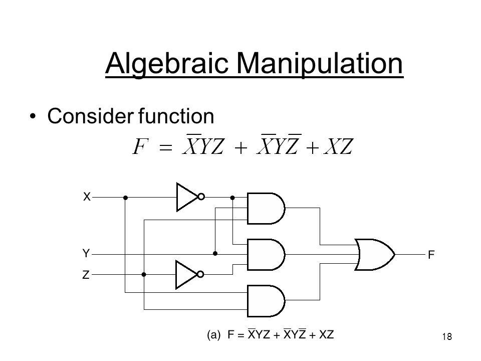 18 Algebraic Manipulation Consider function