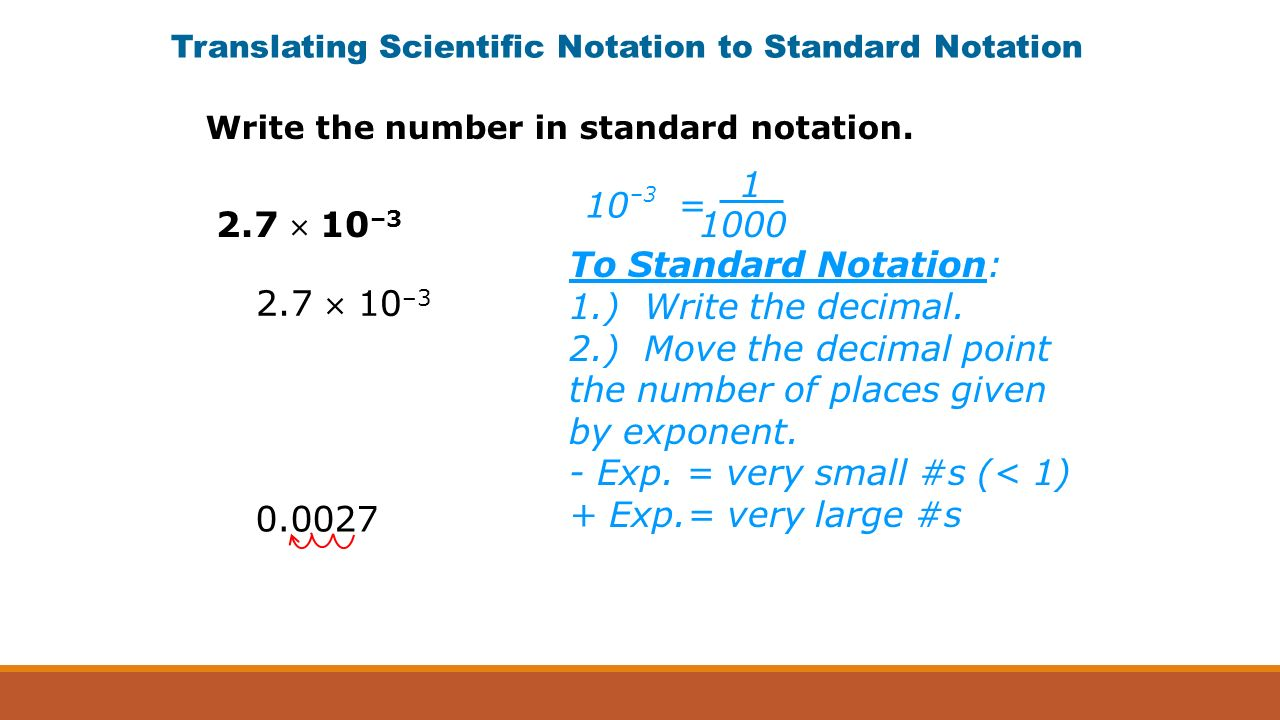 Scientific notation an ordinary quarter contains about 00027 to standard notation 1 write the decimal falaconquin