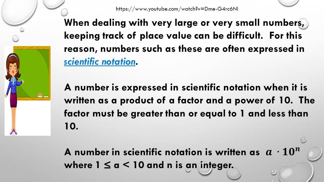 Scientific notation you will learn how to express numbers in 4 scientific notation falaconquin