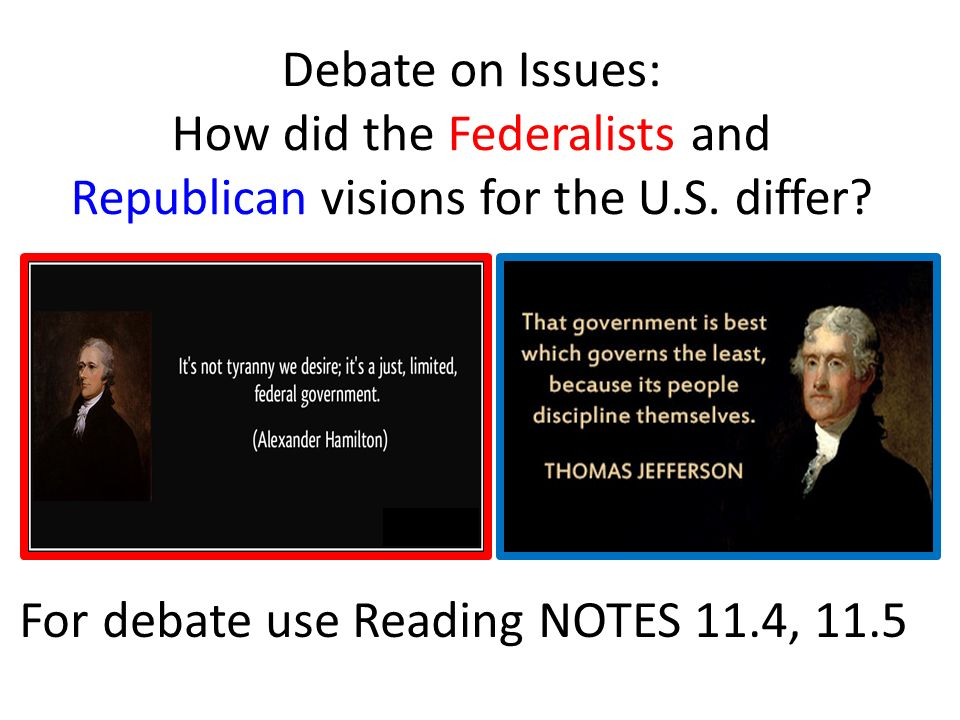 did thomas jefferson out federalize the federalist essay