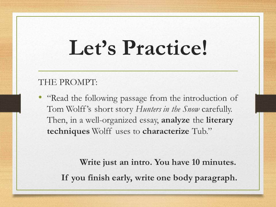 ap literature welcome back freire charter school ms stacey  9 let s practice