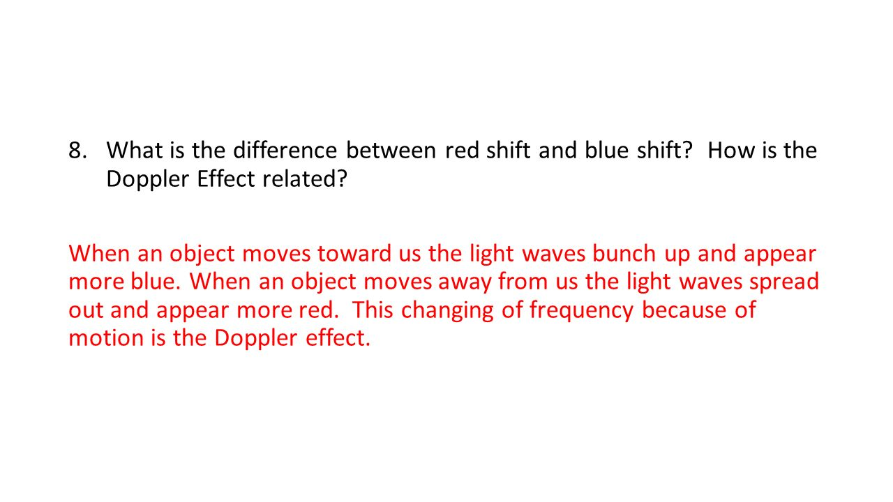 Ems review 1look at the above h r diagram and list the sequence what is the difference between red shift and blue shift pooptronica